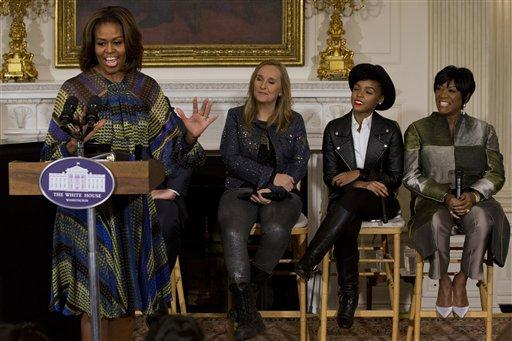 Michelle Obama, Melissa Etheridge, Janelle Monáe, Patti LaBelle