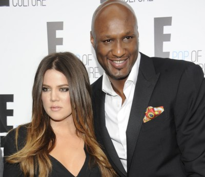 """In this April 30, 2012 file photo, Khloe Kardashian Odom and Lamar Odom from the show """"Keeping Up With The Kardashians"""" attend an E! Network upfront event at Gotham Hall in New York. (AP Photo/Evan Agostini, File)"""