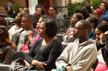 Charlotte students, parents and educators listened attentively during workshops and panel discussions and were inspired by exhibits during the UNCF Empower Me Tour presented by Wells Fargo.
