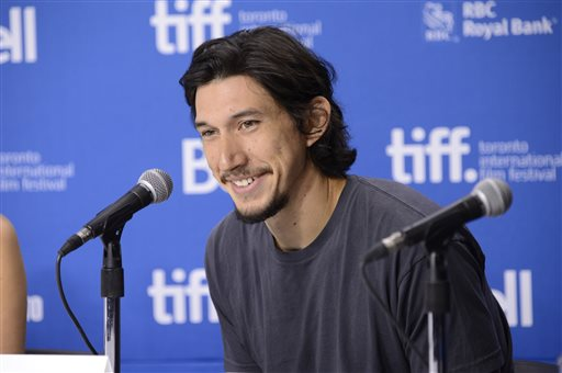 "In this Sept. 8, 2013 file photo, Adam Driver attends a news conference for ""The F Word"" on day 4 of the Toronto International Film Festival in Toronto. The cast of ""Star Wars: Episode VII"" was announced Tuesday, Aril 29, 2014, on the official ""Star Wars"" website by Lucasfilm. Actors Oscar Isaac, Max von Sydow, John Boyega, Daisy Ridley, Domhnall Gleeson and Driver will be joining the cast. (Photo by Evan Agostini/Invision/AP, File)"