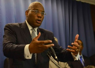 Rev. R.B. Holmes Outlines 12-point action plan. (NNPA Photo by Freddie Allen)