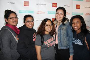 Attendees wore collegiate apparel to the special red carpet community screening of the award-winning documentary First Generation at the launch of Wells Fargo and First Generation Films Go College! initiative in Los Angeles