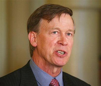 "Colorado Gov. John Hickenlooper speaks at a news conference at the Capitol in Denver in this Wednesday, May 22, 2013 file photo. Hickenlooper Saturday afternoon May 17, 2014 will sign Colorado's ""Right To Try"" bill, which was passed unanimously in the state Legislature. The ""Right To Try"" law allows terminally ill patients to obtain experimental drugs without getting federal approval. (AP Photo/Ed Andrieski, File)"