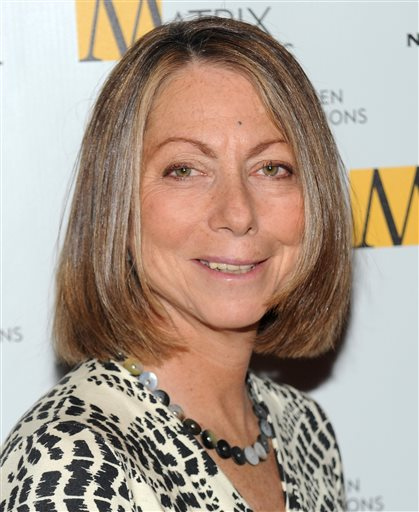 The New York Times managing editor Jill Abramson attends the 2010 Matrix Awards presented by the New York Women in Communications at the Waldorf-Astoria Hotel in this Monday, April 19, 2010  file photo in New York. The New York Times on Wednesday May 14, 2014 announced that executive editor Jill Abramson is being replaced by managing editor Dean Baquet after two and a half years on the job. (AP Photo/Evan Agostini, File)