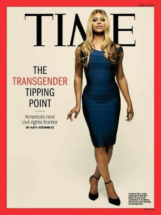 LaVerne Cox on the cover of Time Magazine