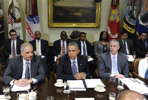 Barack Obama, Eric Holder, Shaun Donovan
