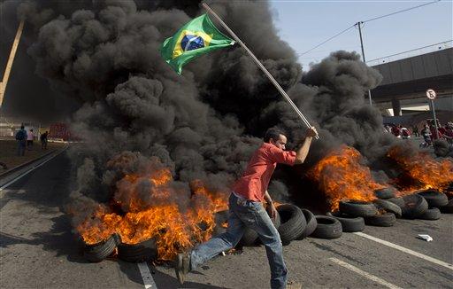APTOPIX Brazil WCup Protests