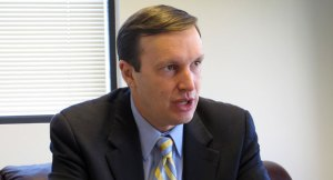 Sen. Chris Murphy (D-Conn.), the point person on healthcare for Senate Democrats. (AP Photo)