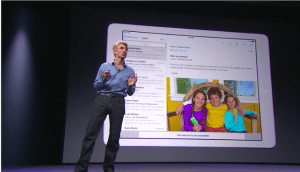 Screenshot from WWDC.
