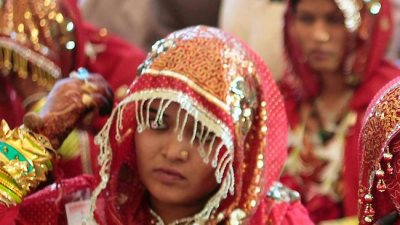 Indian women are often scape-goated by groom's families unhappy with the dowries they receive. (Ajit Solanki/AP)