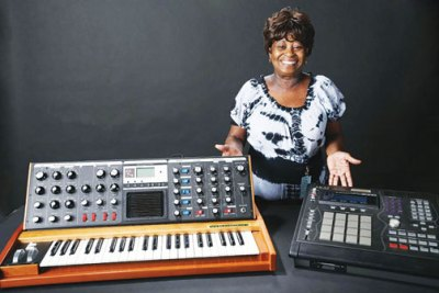 J Dilla's MPC beat machine and Moog synthesizer at the Smithsonian (Courtesy Photo)
