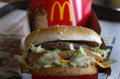 A McDonald's Big Mac sandwich is photographed at a McDonald's restaurant in Robinson Township, Pa. in this 2014 file photo. (AP Photo/Gene J. Puskar)