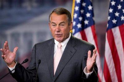 House Speaker John Boehner of Ohio, speaks to reporters on Capitol Hill in Washington, Thursday, July 10, 2014, during a news conference. (AP Photo/Manuel Balce Ceneta)