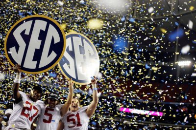 Alabama, with a top football team, is in the Southeastern Conference, which would gain more autonomy. (David Goldman/AP)