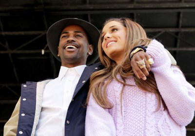 Big Sean and Ariana Grande at the White House for the 2014 Easter Egg Roll (Courtesy of RapUp.com)
