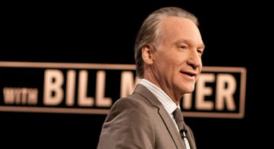 "Bill Maher on the set of his HBO show ""Real Time with Bill Maher"" (AP Photo)"