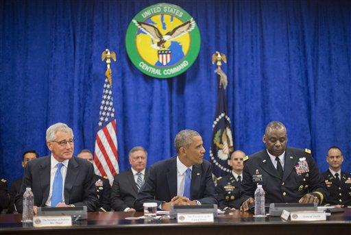 Barack Obama, Chuck Hagel, Lloyd J. Austin