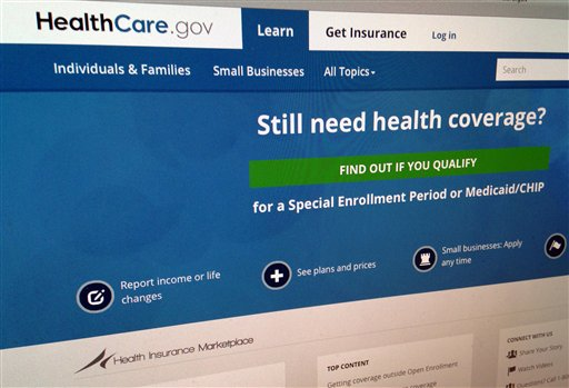 This Sept. 15, 2014, photo shows part of the HealthCare,gov Website in Washington. The government's own watchdogs say they tried to hack into HealthCare.gov earlier this year and found what they termed a critical vulnerability. But they also came away with respect for some of the security features on the Obama administration's health insurance website. The report is being released Tuesday, Sept. 23 by the inspector general's office of the Health and Human Services department. (AP Photo/Jon Elswick, File)