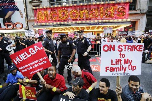 APTOPIX Fast Food Protests