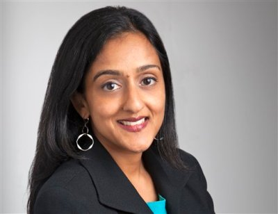 This undated handout photo provided by the Justice Department shows Vanita Gupta. An American Civil Liberties Union attorney was named Wednesday as the acting head of the Justice Department's Civil Rights Division. Gupta, who has served for the past four years as deputy legal director of the ACLU and director of its Center for Justice, starts at the Justice Department next week. She previously worked as a lawyer at the NAACP Legal Defense Fund. (AP Photo/Justice Department)