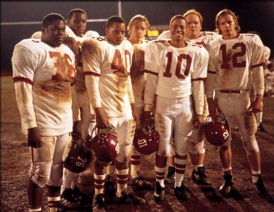"The cast of ""Remember the Titans"". Donald Faison (#40) portrays Petey Jones, who still works at T.C. Williams High School in Alexandria, VA (Courtesy Photo)"