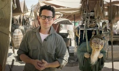 """In this video grab made available by Lucasfilm Ltd. & TM on Thursday, May 22,  2014, J.J. Abrams, director of """"Star Wars: Episode VII,"""" talks to the fans from the movie set in the desert in Abu Dhabi, United Arab Emirates. Walt Disney Pictures announced Thursday, Nov. 6, that the movie previously known only as """"Episode VII"""" has been dubbed """"The Force Awakens."""" Disney also said that principle photography has wrapped on the J.J. Abrams-directed sequel six months after beginning. The film will be released in December 2015. (AP Photo/Lucasfilm Ltd., File)"""
