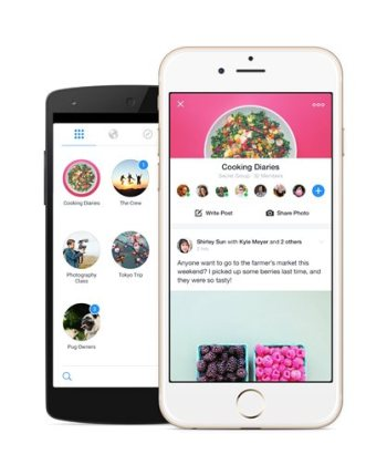 This product image provided by Facebook shows the company's new Groups app. Groups lets users create and interact with communities on the site, whether they're based on hobbies, geography or culture. (AP Photo/Facebook)