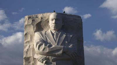 The Martin Luther King Jr. Memorial in Washington. A new essay explains FBI Director J. Edgar Hoover's effort to discredit the civil rights leader. (Carolyn Kaster/AP Photo)