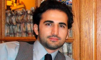This undated file photo released by his family via FreeAmir.org shows Amir Hekmati. Hekmati, a former U.S. Marine being held in Iran over the past two years on accusations of spying for the CIA. The semiofficial ISNA news agency reported Saturday, April 12, 2014 that an appeals court has overturned a death sentence of an American man convicted of working for the CIA, instead sentencing him to 10 years in prison. Iran charged Hekmati with receiving special training and serving at U.S. military bases in Iraq and Afghanistan before heading to Iran for his alleged mission. Hekmati's father, a professor at a community college in Flint, Michigan, has said his son is not a CIA spy. (AP Photo/Hekmati family via FreeAmir.org, File)