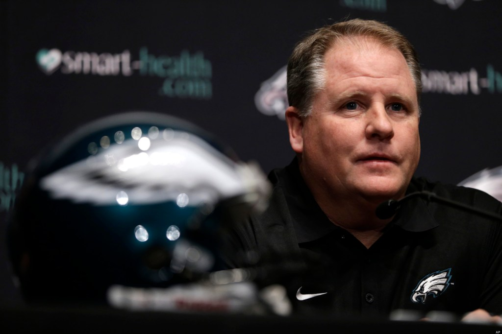 Philadelphia Eagles new head coach Chip Kelly speaks during a press conference at the team's NFL football training facility, Thursday, Jan. 17, 2013, in Philadelphia. (AP Photo/Matt Rourke)