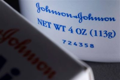 In this Oct. 10, 2008, file photo, Johnson & Johnson products are shown in Philadelphia. (AP Photo/Matt Rourke, File)