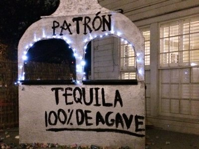 A decoration from the Texas Fiji 'Border Patrol' party at the University of Texas (Courtesy of The Daily Texan)
