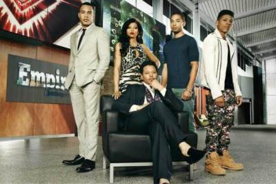 "The cast of Fox's hit show, ""Empire,"" from L to R: Trai Byers, Taraji P. Henson, Jussie Smollett, Bryshere Gray and Terrence Howard. (Courtesy Photo)"