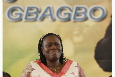 Simone Gbagbo, wife of former Ivory Coast president Laurent Gbagbo, has been indicted by the International Criminal Court on charges including murder, rape and persecution. (Rebecca Blackwell/AP Photo)