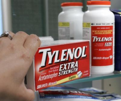 Johnson & Johnson says the warning will appear on the cap of new bottles of Extra Strength Tylenol sold in the U.S. starting in October and on most other Tylenol bottles in coming months. The warning will make it explicitly clear that the over-the-counter drug contains acetaminophen, a pain-relieving ingredient that's the nation's leading cause of sudden liver failure. (Paul Sakuma/AP)