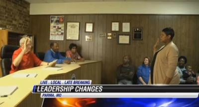 Tyus Byrd was sworn in as mayor of Parma, Mo., on Tuesday, shortly after five of the city's six cops and other government officials resigned. (KFVS)