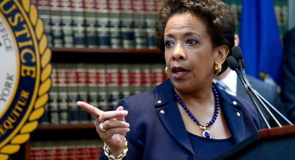 NY: Attorney General Lynch Holds Press Conference On FIFA Indictment