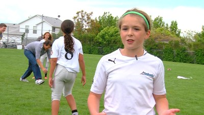 Sam Gordon is one of the first participants in the Utah Girls Tackle Football League, which is believed to be the first all-girl youth tackle football league in the United States. (Jay Dortzbach/KSL-TV)