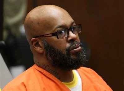 "This April 8, 2015 file photo shows former rap mogul Marion ""Suge'' Knight appears in a Los Angeles court on charges that he and comedian Micah ""Katt"" Williams stole a photographer's camera in Beverly Hills, Calif.  Knight refused to attend a court hearing on Wednesday May 27, 2015, in a robbery case filed after a celebrity photographer accused him and comedian Katt Williams of stealing her camera last year. A Los Angeles judge said Knight told deputies he was too sick to come to court. (AP Photo/Los Angeles Times, Irfan Khan, Pool, File)"
