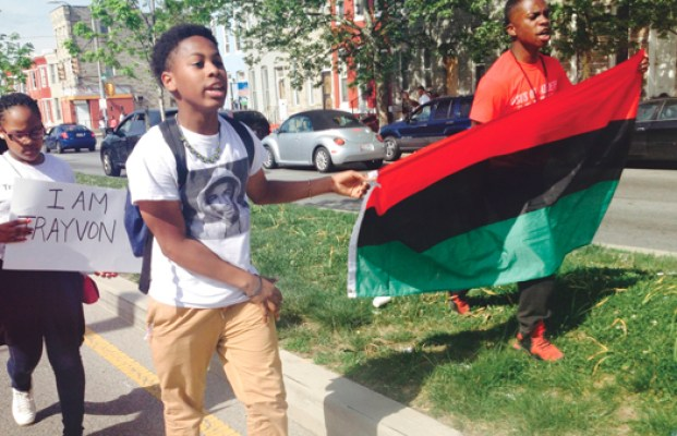 Jerome Lyles, 15, wants effort for justice to keeping going. (Richard B. Muhammad/NNPA Photo)