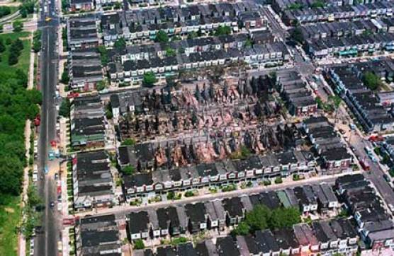 More than 60 other homes and businesses were destroyed when the Philadelphia police department and FBI bombed the MOVE home.