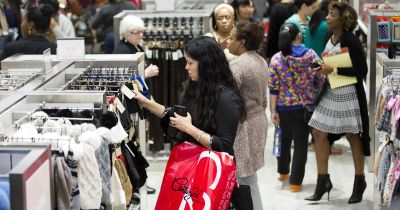 People shop at the Century 21 Department Store in Philadelphia. (Matt Rourke/AP Photo)