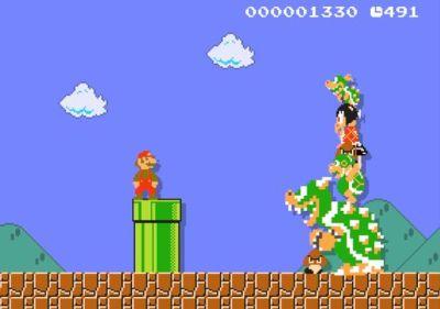 A scene from 'Super Mario Maker.' (Courtesy of Nintendo)