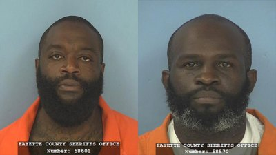 Rapper Rick Ross (left), whose real name is William Leonard Roberts, and Nadrian James (Courtesy of Fayette County Sheriff's Office)