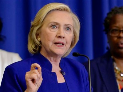 In this May 27, 2015 file photo, Democratic presidential candidate, former Secretary of State Hillary Rodham Clinton speaks in Columbia, S.C. Clinton plans to draw on her mother's difficult upbringing to cast herself as a fighter for ordinary Americans in the first major speech of her 2016 campaign. (AP Photo/Richard Shiro, File)