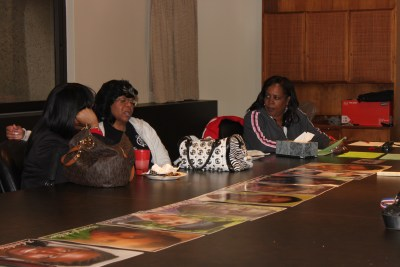 Mothers of murdered children (left to right): Constance Wilson, Vanessa Byrd and Andrea Clark.