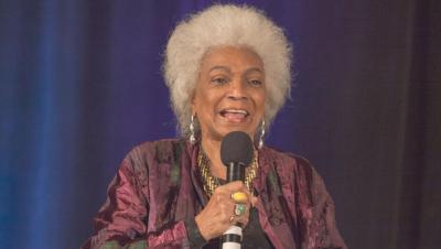 Actress Nichelle Nichols during Creation Entertainment's Official Star Trek Convention June 8, 2014 in Rosemont, Il. (AP Photo/Barry Brecheisen/Invision)