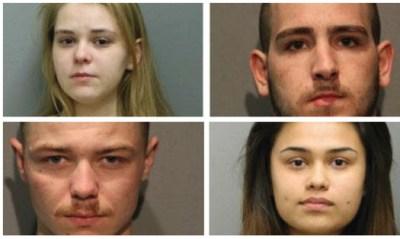 Clockwise from Top left: Joya Urbikas, David Rice, Courtney Vega and Kevin Hoynes. (Chicago Police Dept.)