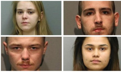 Clockwise from Top left: Joya Urbikas, David Rice, Courtney Vega and Kevin Hoynes. (Chicago Police Dept.)