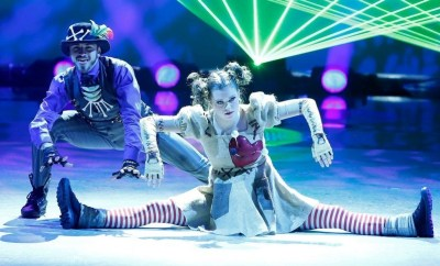 "Season 11 winning contestants Ricky Ubeda, left, and Valerie Rockey perform a hip-hop routine on ""So You Think You Can Dance."" (Adam Rose/AP Photo/Fox)"